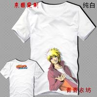 Free shipping!Japan anime Naruto Uzumaki cotton T shirt  short sleeve tees customized cartoon shirts