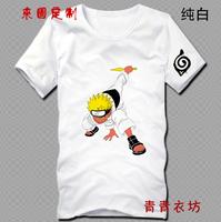 Free shipping!Japan anime Naruto Uzumaki cotton T shirt  short sleeve tees fashion summer tops