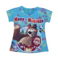 wholesales 2014 new style summer kids T-shirt printed gifts girls tee shirts mawa bear girls t-shirts(2T-6T) 5pcs/lot