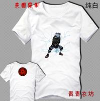 Wholesale!Japan anime Naruto sha rinn gann 100% cotton T shirt  short sleeve couple tops