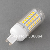 Wholesale 10pcs/lot G9 69 SMD 5050 LED Spotlight Corn Light Bulb Lamp w/cover 220V Warm White