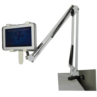 Details about Adjustable Swing Arm Tablet Stand for Desk or Table Top Works with Most Tablets