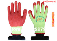wholesale wear-resistant slip-resistant rubber safety gloves  dipped labor protectiongloves  free shipping