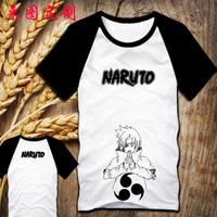 Wholesale!Japan anime Naruto Uchiha Sasuke 100% cotton T shirt  short sleeve O-NECK tees