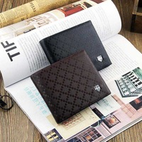 20pcs/lot new fashion simple soft business man Wallet leather purse free shipping