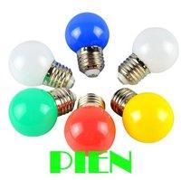 1W E27 led lamp 3014 smd mini globe led bulb white green red blue for home decor AC 100V- 240V by DHL 50pcs/lot