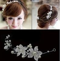 2Colors Crystal  Rhinestone Lady  Barrettes Crown Bridal Hairwear  Accessary