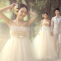 Maternity wedding dress tube top high waist strap style 2014 lace red wedding dress