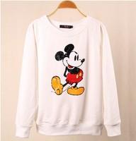 EAST KNITTING FASHION WY-080 2014 NEW Harajuku Cartoon pullovers 3D Mouse Sweatshirt Free shipping