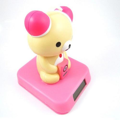 Pink Power Bear New solar power bear for carsPink Power Care Bear
