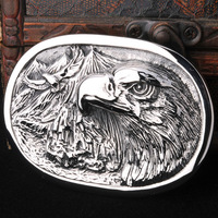Super Cool High Quality 316L Stainless Steeel Man's Heavy Metal Eagle Belt Buckle Free Shipping BK005