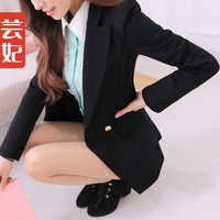 Female blazer outerwear medium-long plus size slim suit spring 2014 blazer