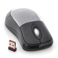 Freeshipping Solar Power Optical Wireless Mouse - USB, 8 Meter Distance
