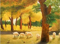 Cross stitch kit big picture animal lambling blended-color