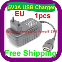 1 pcs Free Shipping Europe Plug 5v 3a usb charger for Hyundai T10 T7S T7 Quad Core Android Tablet PC