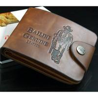 5pcs/lot popular style bailini brand vintage hunter print purse leather men wallet with 7 card slots