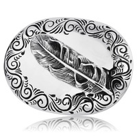Super Cool High Quality 316L Stainless Steeel Man's Feather Belt Buckle Free Shipping BK013
