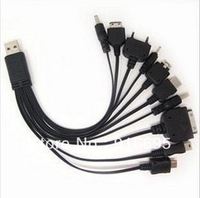 Drop shipping 10 In 1 universal USB multi charger cable for psp mobile phones and ipod easy to use portable charger cable