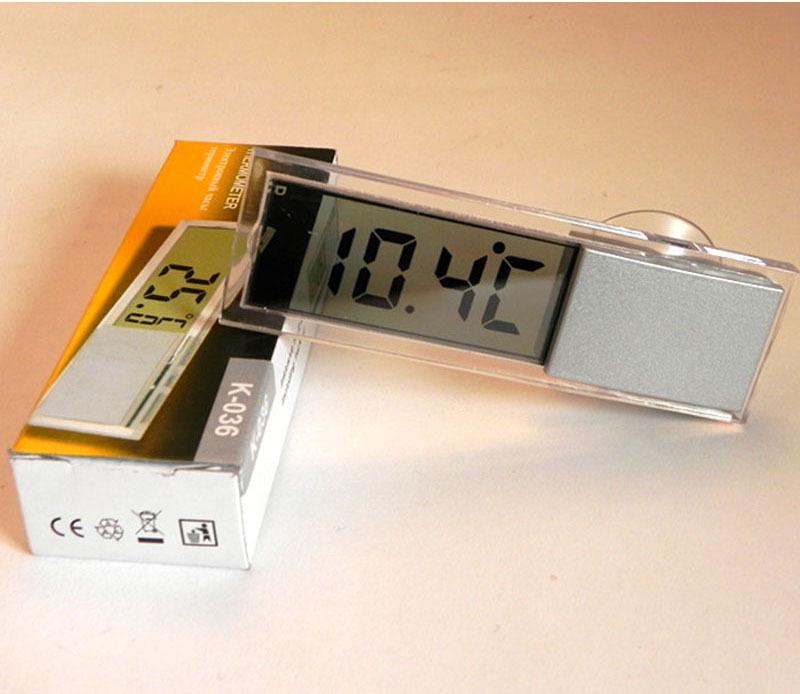 Прозрачный термометр на присоске.