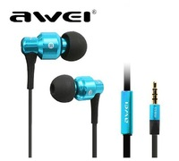 high quality metal ES-500 wire control smart earphone headset for hifi music