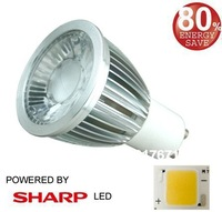 Free Shipping Dimmable GU10 LED  8W  SHARP COB LED  spot light  GU10   GU10 lamp