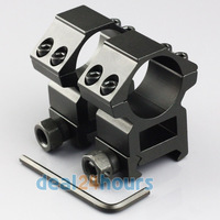 "Lot 2pcs High Profile 25.4mm 1"" Scope Rings for 20mm Picatinny Weaver Rail Mount New Free Shipping"