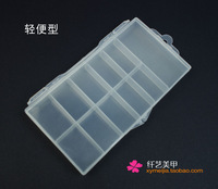 Small sclerite box nail art false nail patch diamond box nail art supplies sclerite box