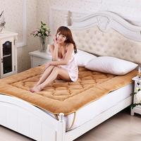 Coral fleece mattress thickening single double tatami piates sponge mattress