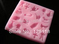 factory wholesale 3049 silicone 10 sets  baby toy fondant mould  for fondant cake decoration