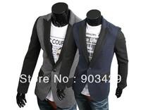 2014 Spring men's classic fashion slim fit design one button casual tuxedo blazers suit jacket size M-XXL