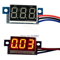 Promotion!!!10PCS/LOT New 1pcs Red LED Panel Meter Digital Voltmeter DC 0-30V TK0600