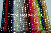 Wholesale Free Shipping 500pcs/lot 8mm High Quality Christmas Ornament Glass Pearl Loose Round Beads for Jewelry Decoration