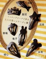 Free shipping (Min order $10) Han edition metallic matte black hairpin BB clip hair accessories headdress