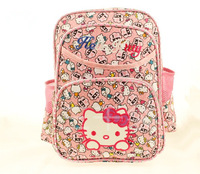 New Hello Kitty Cartoon Children's School Bags Lovely Kids Child Girls Backpack Mochila Free Shipping