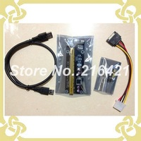 PCI-E PCI E Express 1x to 16x Riser Extender Adapter Card With 50cm USB 3.0 Cable Power For bitcoin
