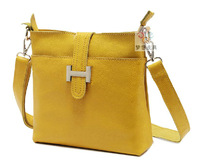 2014 full genuine leather vintage women's candy color handbag one shoulder casual small cross-body bag