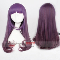 Because free shipping purple wig wig harajuku anime cos gradient color
