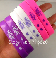 60pcs Violetta Charm Silicone Bracelets 3 Colors Mixed Kids Fashion Wristbands Wholesale Jewelry Lots