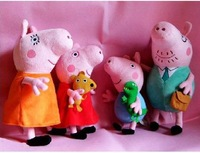 1 pc Single TOP SALE Anime Baby Toys Peppa Pig Toy  Daddy Mummy George Peppa Pig to Choose ,Plush Styles Stuffed Doll,X754