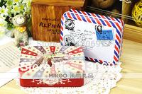 2014 new trinket metal box envelope mix order box decent tea box free shipping wholesale
