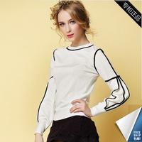 Royal OCHIRLY lantern sleeve vintage basic pullover sweater shirt sweater