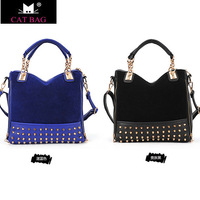 New Fashion Designer High Quality Women's leather Rivet Shoulder bag handbags free ship