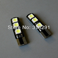 300pcs/lot Newest High bright Canbus flat T10 W5W 6SMD 5050 LED  No error signal report for some car