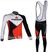 New maillot ! 2014 MERIDA Cycling Jersey Long sleeve and bicycle bib Pants / ropa ciclismo clothing  MTB#041