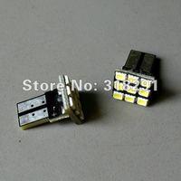 300 pcs/lot T10 9 smd  1206 Car LED Bulbs auto Interior Lighting  with PCB plug