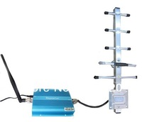 GSM cell phone signal booster with Yagi antenna can coverage area 1500 Sqm