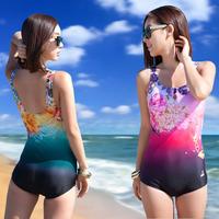 Female professional swimwear one piece slim plus size hot spring swimsuit