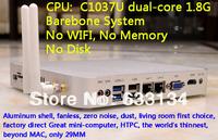 dual-core Celeron C1037U cpu HD mini computer mini pc industrial computer win7 host USB3.0  dual Gigabit LAN Barebone system