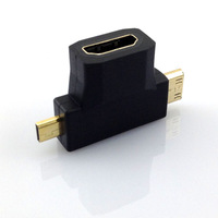 2014 New 3-in-1 1080p HDMI Female to Micro / Mini HDMI Male Adapter Connecter Type
