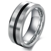 Wholesale Fashion Women Men Jewelry 316L Stainless Steel Rings Between The Black Wedding Engagement Rings Forever love
